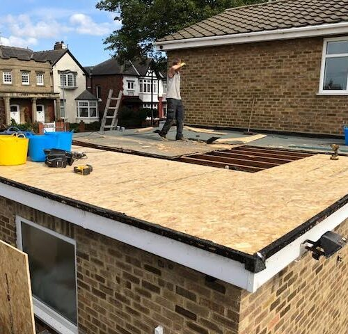 grp flat roof during