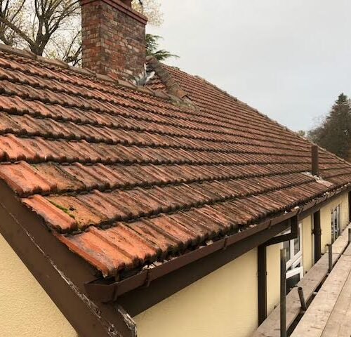 old roof edge